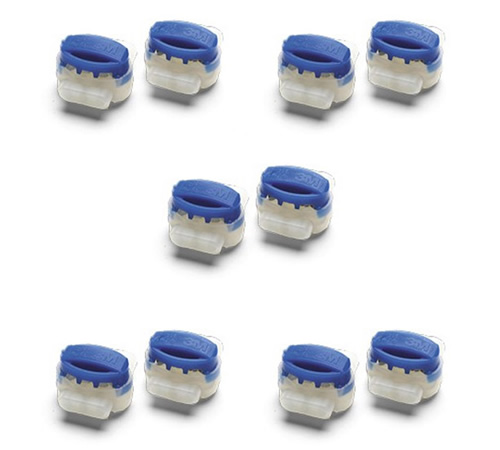 Pack of 10 blue/clear Robomow repair connectors for using with the Robomow perimeter wire.