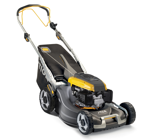 The Stiga Twinclip 55 SV H self-propelled lawnmower has �a 53cm / 21 inch cutting width powered by a Honda 190cc engine. The Stiga 2016 Twin clip rang
