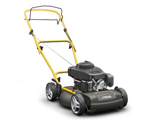 The Stiga Multiclip 47S is a self-propelled four wheel lawn mower suitable for any garden. Mulching technology automatically cuts grass clippings in t