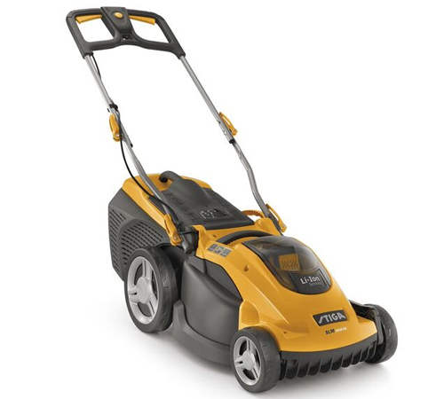 The Stiga SLM 4048 AE 48v Cordless Lawnmower uses the Stiga48v, 5Ah lithium-lon battery, which are interchangeable with all the Stiga 48vcordless tool