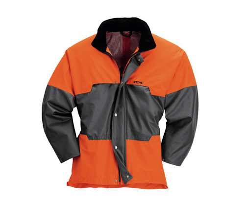 STIHL ADVANCE Jacket in anthracite/orange without cut-protection/ wet weather jacket Mobile phone pocket, outside pocket with zip, 2 inside pockets. W