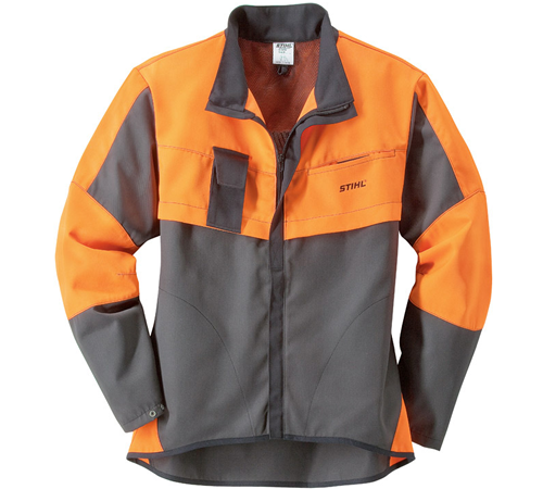 Attractive entry-level Stihl jacket in anthracite / orange for occasional users. Close to the body cut. No chain saw protection. Colour Anthracite / O