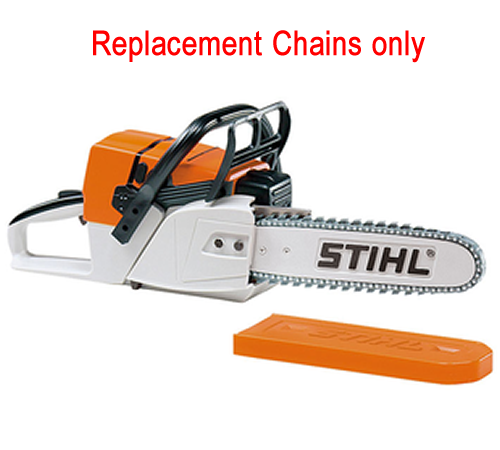 Stihl spare set of replac ment rubber chains for the Stihl battery operated toy chain saw. Includes 4 rubber chains and 1 tool but NOT the toy saw its