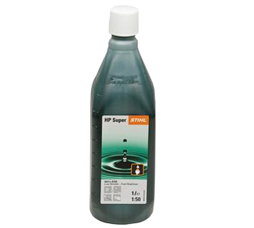 Stihl HP Super Two Stroke Oil 1 Litre 50:1 0781 319 8053Semi-synthetic oil with low-ash additives for clean low-smoke burning. Low-smoke oil performan