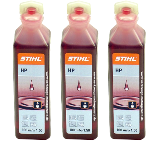 Genuine Stihl 2 Stroke Oil One Shot 100ml Bottles 0781 319 84013x 100ml Bottle of 50:1 Stihl HP Two Stroke Oil. Simply add to Five Litres of fuel & mi