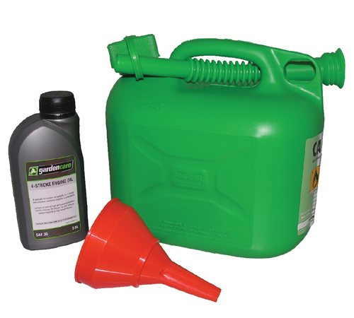 Contains everything you need (except fuel) to get you started with your lawnmower or other four stroke engine machinery. �Includes:5 Litre green fuel