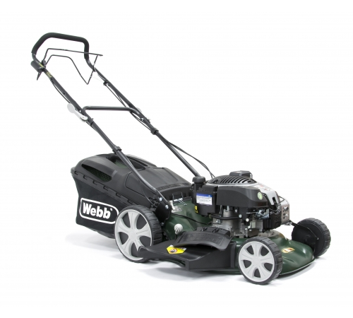 The Webb Supreme R18SPES is a self-propelled electric start lawn mowerwith an 18 inch cutting width. The Webb R18SPES has 4 mowing options including c