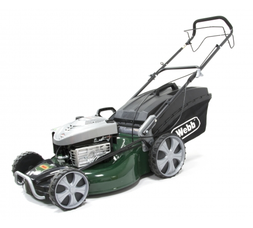 The Webb Supreme R21HW power driven mower has a 21 inch cutting width. The Webb R21HW has 4 mowing functions including cut & collection, rear discharg
