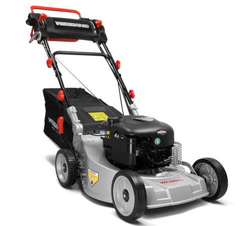 Weibang Virtue 48AV self-propelled 4 wheeled lawnmower with a 19 inch cutting width and aluminium deck. The Weibang Virtue self-propelled lawn mowers