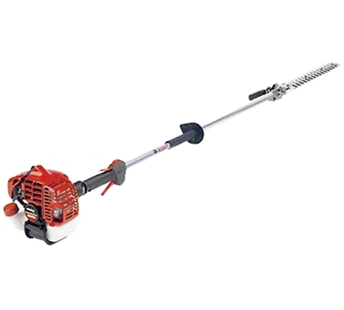 The Shindaiwa AH242 long reach articulating hedge trimmer features the proven and popular 242-series engine. The Shindaiwa AH242 is a sturdy and stead