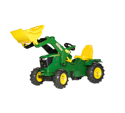 John Deere 6210R Toy Tractor amp Frontloader with Pneumatic Tyres